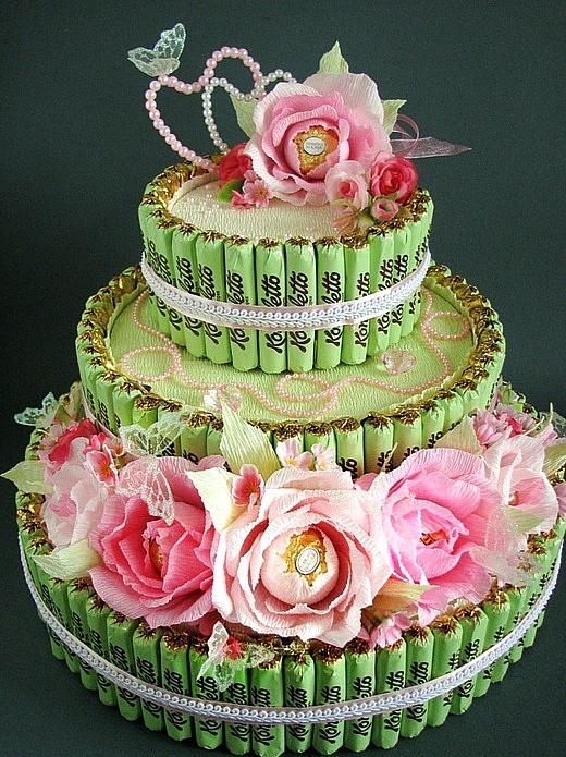 Торты из конфет своими руками на день рождения фото
