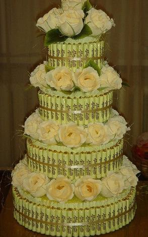 Торт на свадьбу из конфет